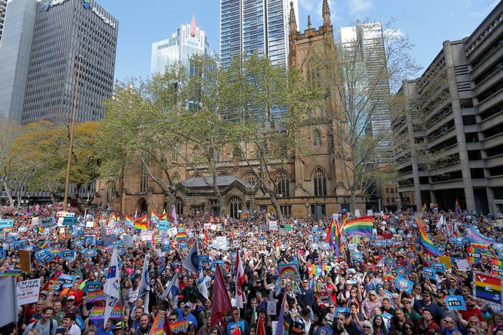 """What we want is to see Australians united in marriage equality and united in fairness for all Australians,"" Kerryn Phel"
