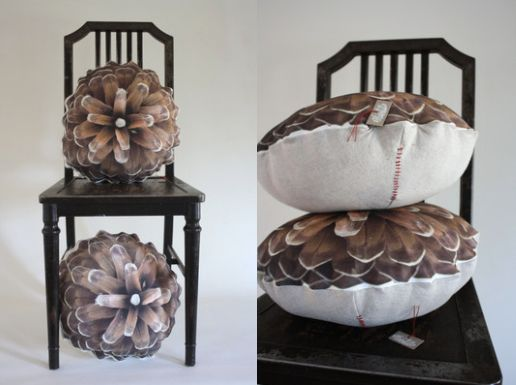 """This pinecone pillow is the perfect addition for any aspiring cabin owner,"" Johnson says. <a href=""https://www.etsy.co"