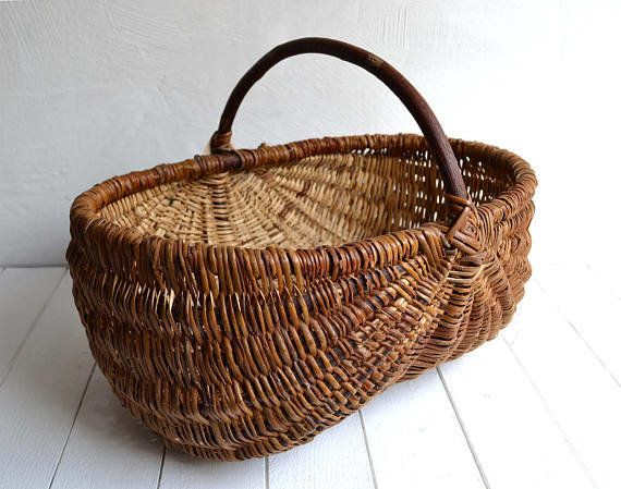 "Use this basket to store crafts, throw blankets or magazines beside your favorite armchair. <a href=""https://www.etsy.com/lis"