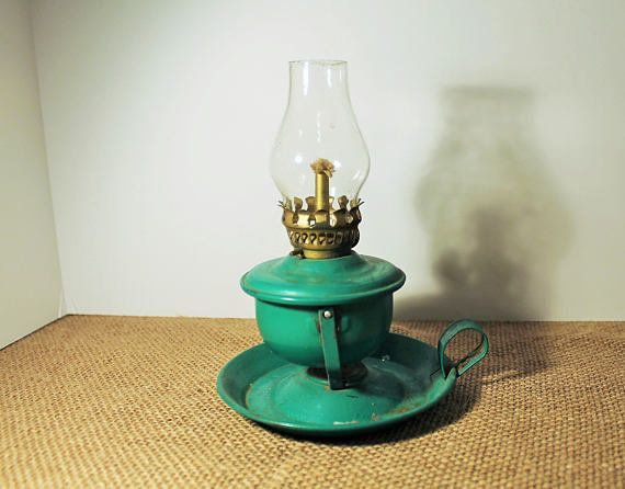 "Decorate your shelves, bookcases, tables and mantle with vintage knick-knacks, like this kerosene lamp. <a href=""https://www."