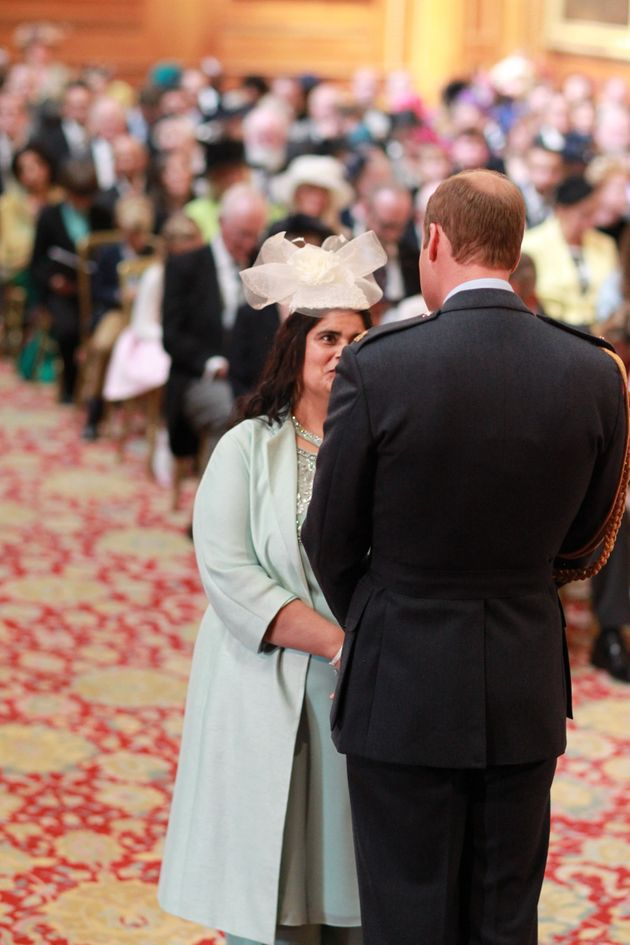 Halimah Khaled was given an MBE in