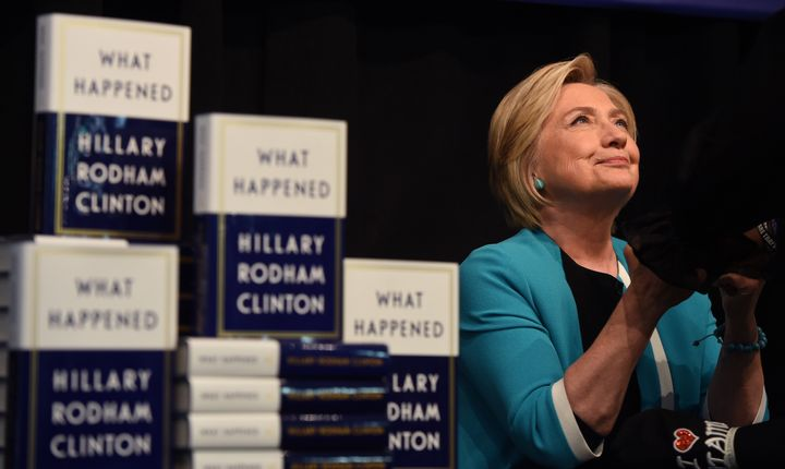 "Hillary Clinton kicks off her book tour for her memoir of the 2016 presidential campaign titled ""What Happened"" with a s"