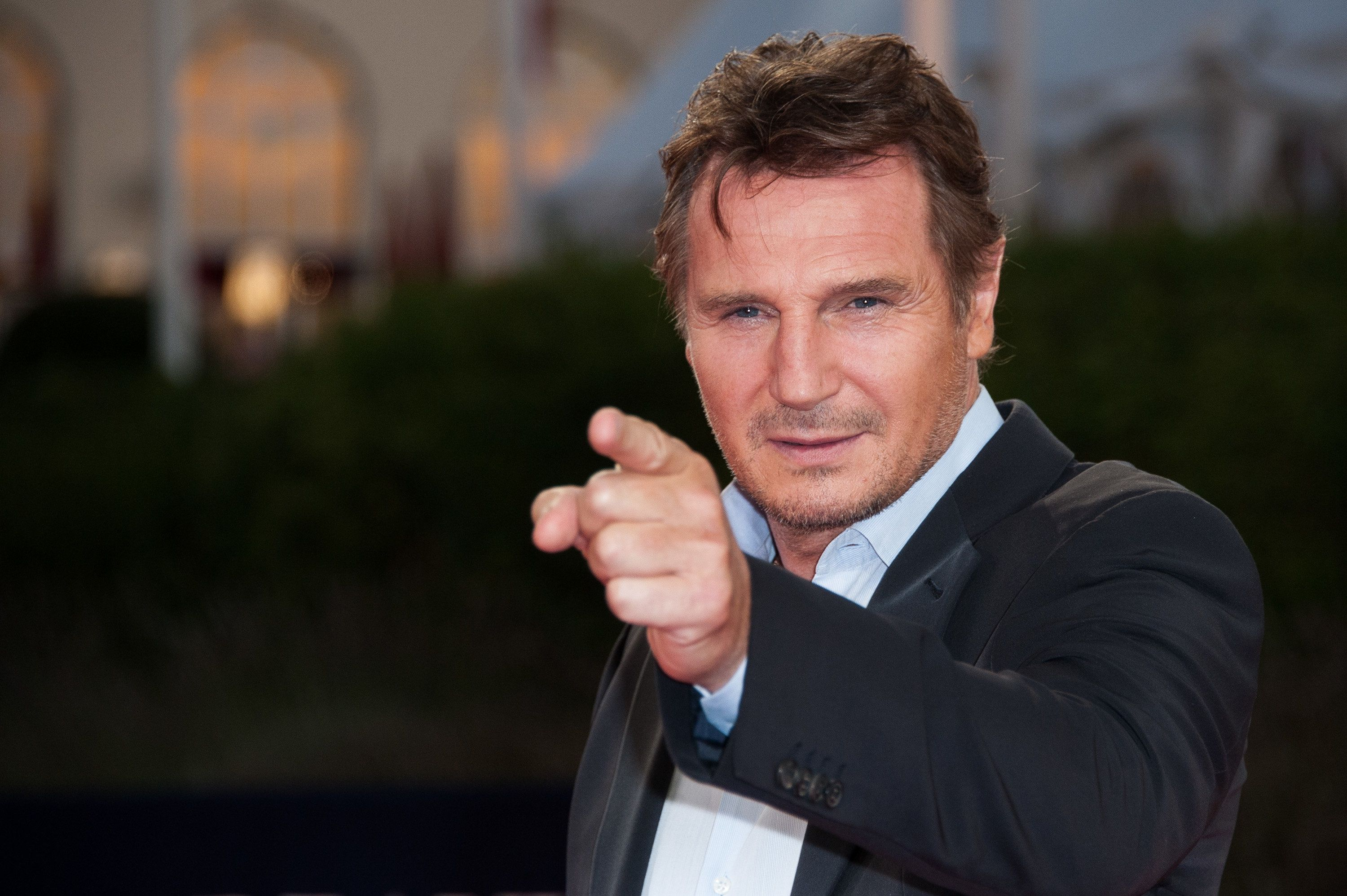DEAUVILLE, FRANCE - SEPTEMBER 07:  Actor Liam Neeson poses on the red carpet before the screening of his movie 'Taken 2' during the 38th Deauville American Film Festival on September 7, 2012 in Deauville, France.  (Photo by Francois Durand/Getty Images)