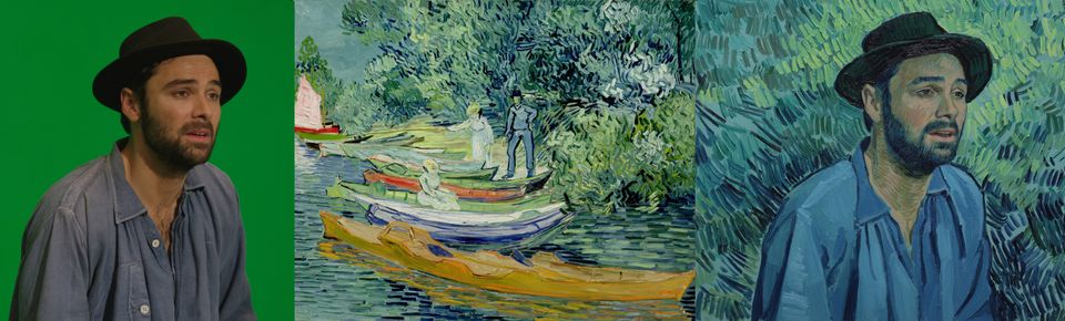 Aidan Turneras Boatman, reportedly inspired by van Gogh's portrait of a young