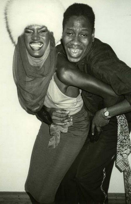 Grace Jones and André Leon Talley, Studio 54