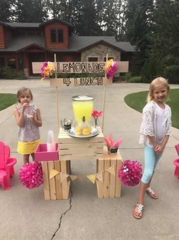 Six-year-old Amiah Van Hill has started a lemonade stand to help pay off lunch debt at an Idaho school district.