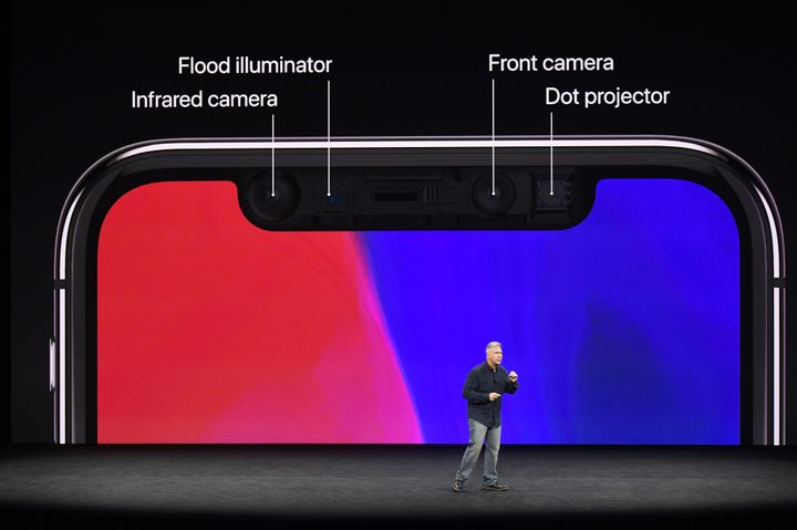 Phil Schiller, senior vice president of worldwide marketing at Apple Inc., speaks about the iPhone X during an event at the S