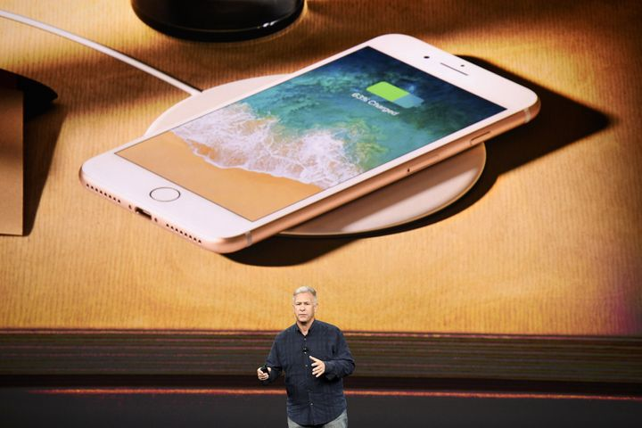 Phil Schiller, senior vice president of worldwide marketing at Apple Inc., speaks about the iPhone 8 and 8 Plus during an eve