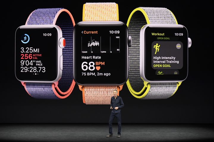 Jeff Williams, chief operating officer of Apple Inc., speaks about Apple Watch during an event at the Steve Jobs Theater in C