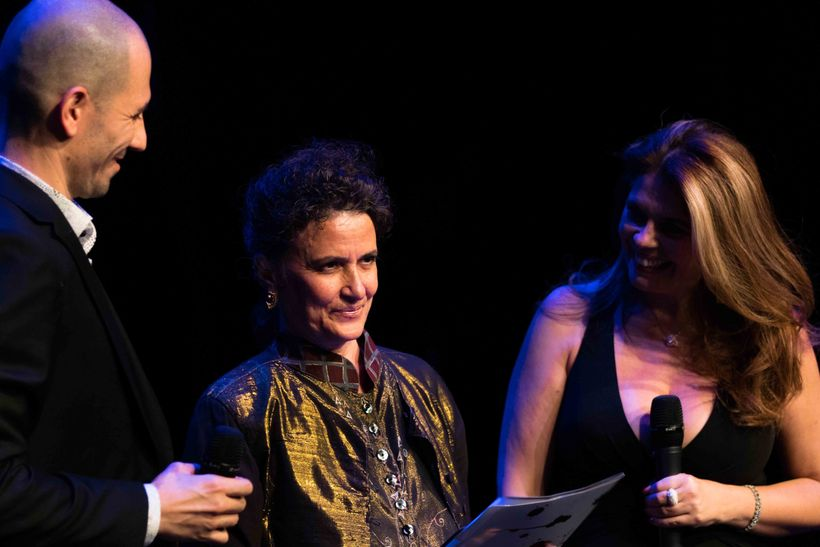 Antonio Fini awards Terese Capucilli the Lifetime Achievement Award at the 2017 Italian International Dance Awards