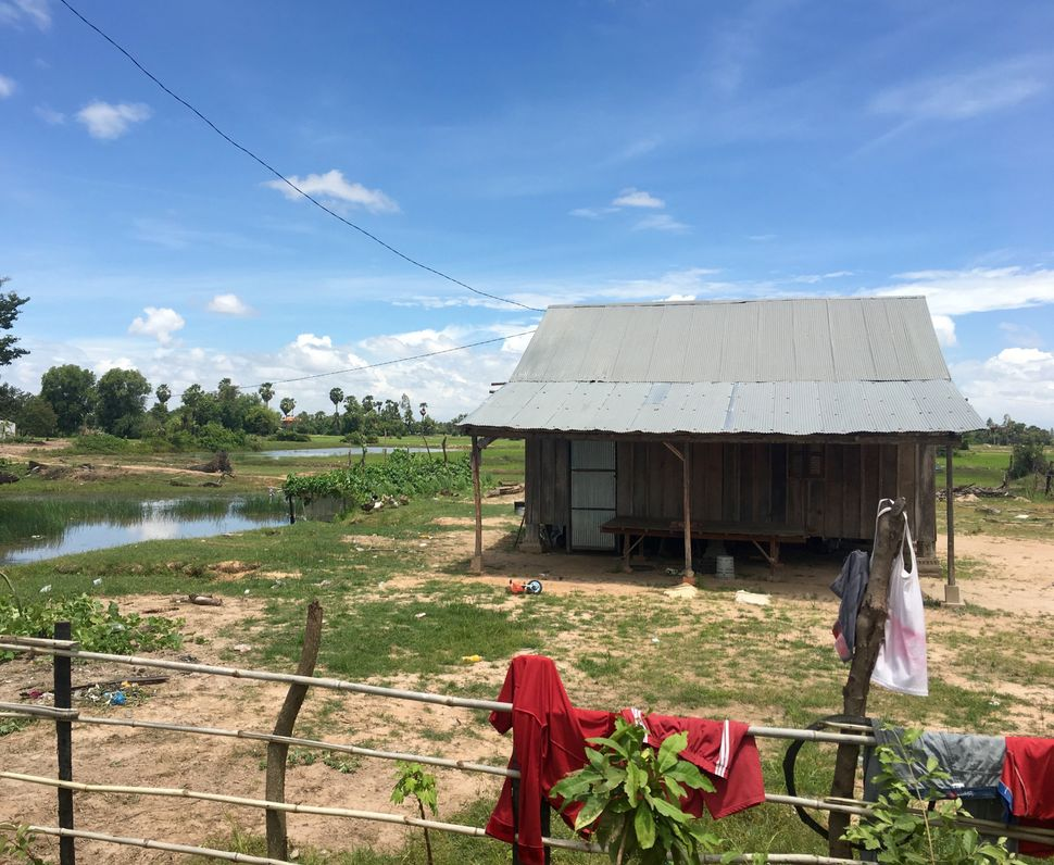 Scenes from a village in Kampong Speu, a town to the west of Cambodia's capital where several Cambodian girls were