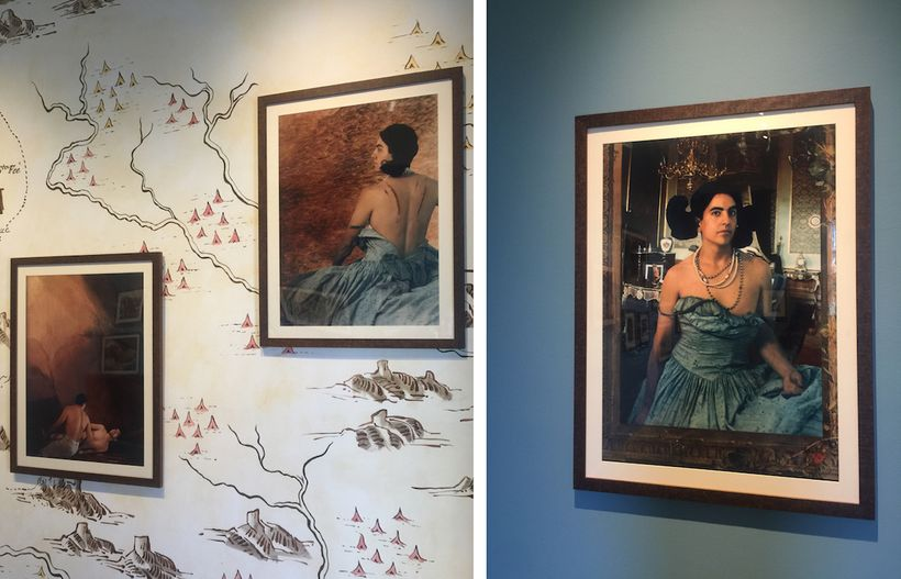 """L and R: Exhibition installation, """"Bone-Grass Boy"""" by Ken Gonzales-Day, Luis Jesus Gallery, Los Angeles. Images by Edward Gol"""