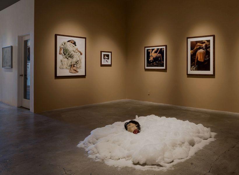 """Exhibition installation, """"Bone-Grass Boy"""" by Ken Gonzales-Day, Luis Jesus Gallery, Los Angeles. Image courtesy Luis De Jesus"""
