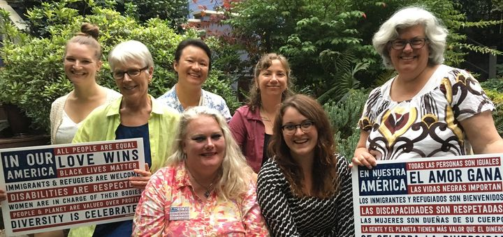 Nasty Women Get Sh*t Done PDX Board (clockwise from left): Meghan Prichard (Outreach Coordinator), Marcia Alvar (Special Proj