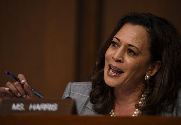 Sen. Kamala Harris (D-Calif.) was the first senator to publicly announce her support for BernieSanders'...