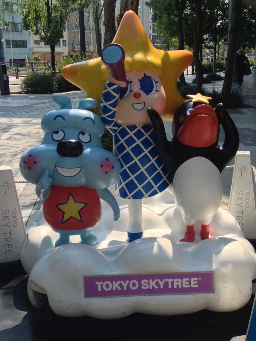 Photo ops for the Sky Tree characters are on the ground as well.