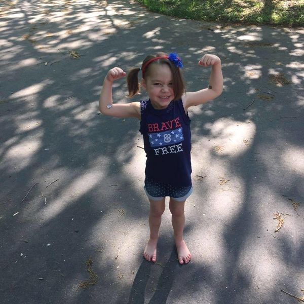 """""""Our daughter was diagnosed with leukemia at 2.5 years old. She has been a super warrior throughout the entire treatment time"""