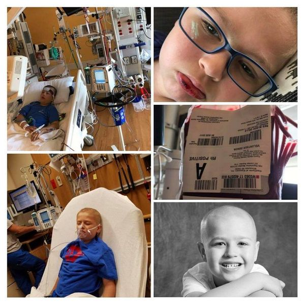 """""""Daxton was 5 years old when he was diagnosed with pre-b acute lymphoblastic leukemia in March 2016. He has had surgery, lumb"""