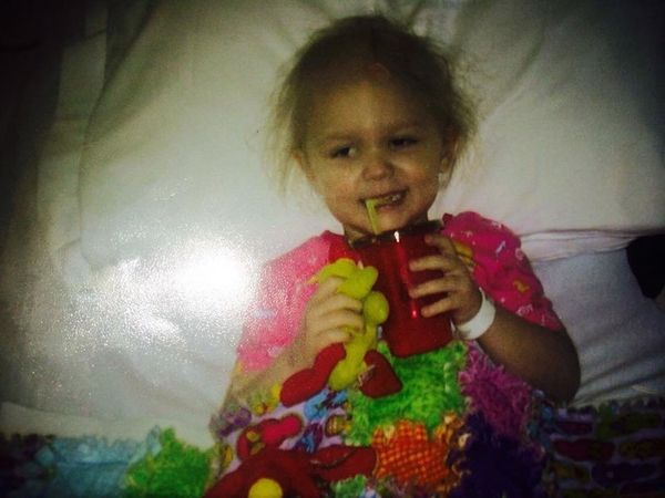 """""""This is my daughter Maren. Diagnosed with ATRT two weeks after her third birthday. The treatment protocol used for her was p"""