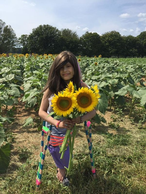 """""""My 9 (almost 10) year old was diagnosed with Ewing's Sarcoma in her tibia in February. Since then she has undergone 10 round"""