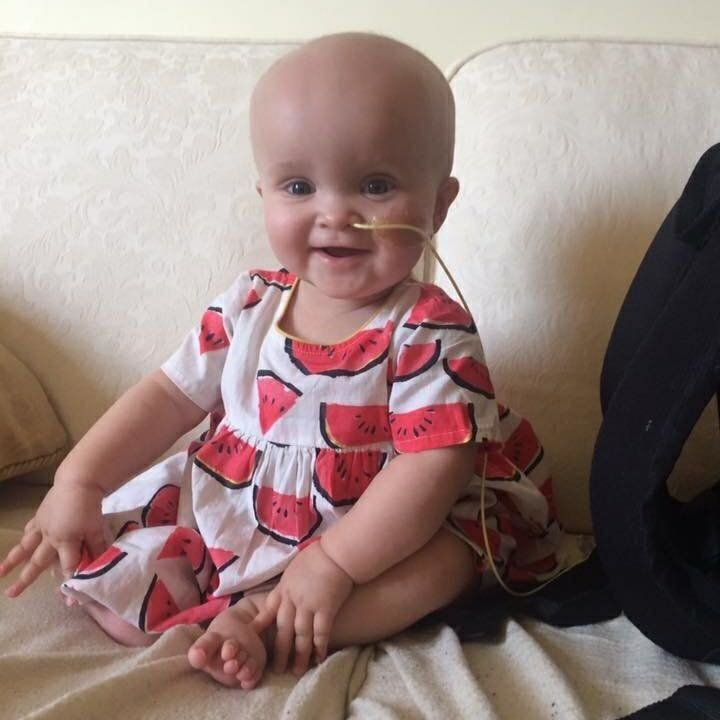 """""""Daisy was diagnosed at 9 months old with neuroblastoma. She had four rounds of chemotherapy, multiple surgeries and nasty in"""