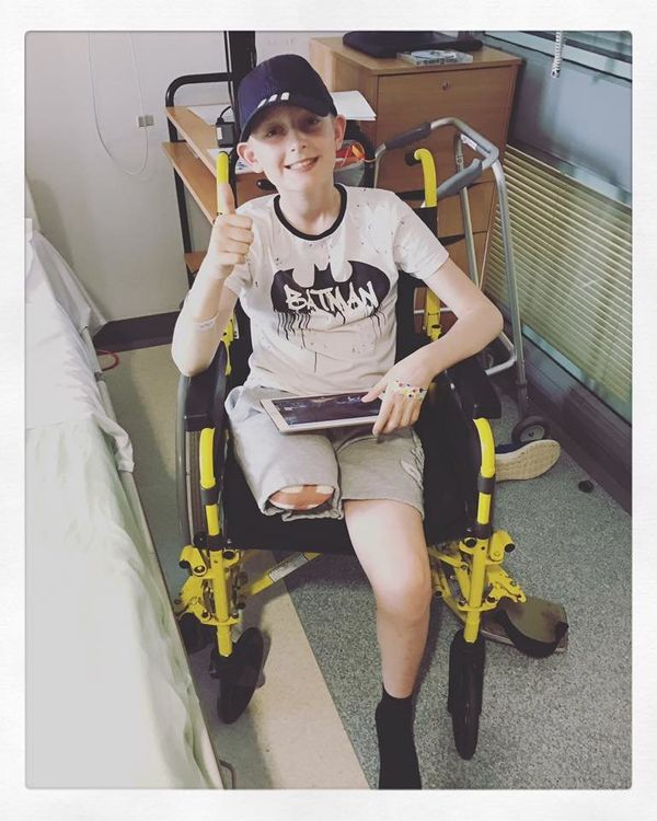 """""""This is Josh. He was diagnosed with osteosarcoma at the age of 11. He failed his first line chemo and had bone tumor metasta"""