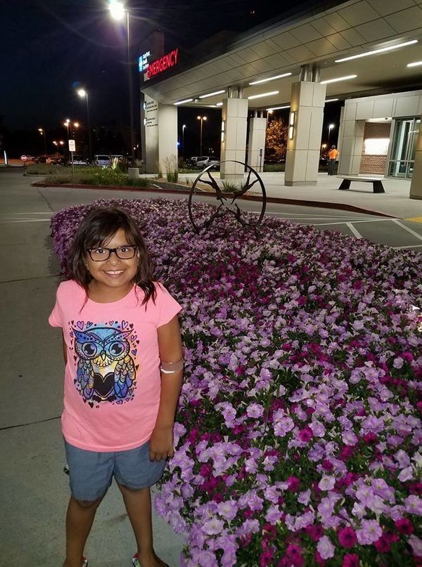 """""""My Kyla, diagnosed with a very rare inoperable brain cancer at age 4. Four unsuccessful chemo combinations from 2011 to 2014"""