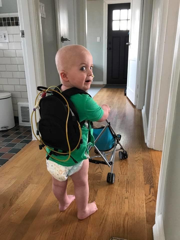 """""""Declan David Fish was diagnosed with a rare brain tumor the size of a softball on May 23 of this year. He spent his second b"""