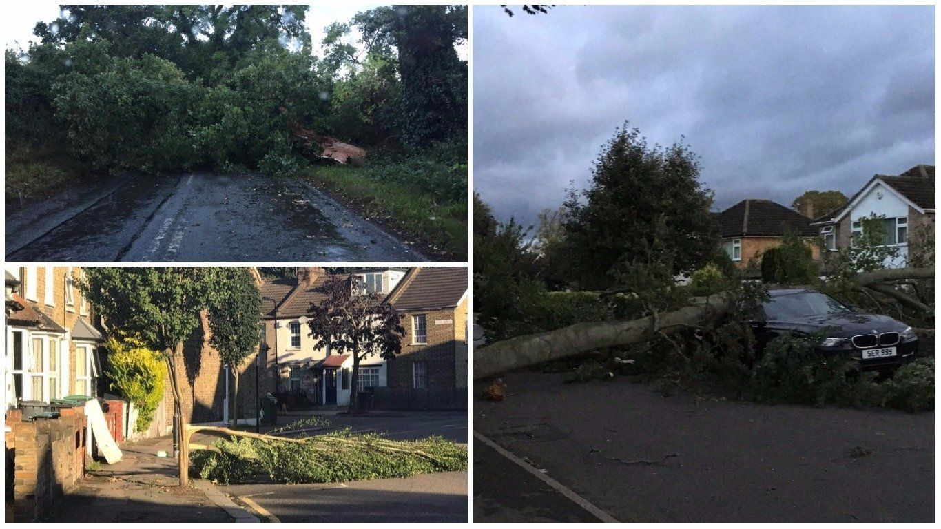 Commuters reported chaos as Britain woke to the aftermath of Storm