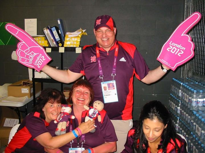 Paul volunteering at the London 2012 Olympics, just weeks before he went into septic shock.