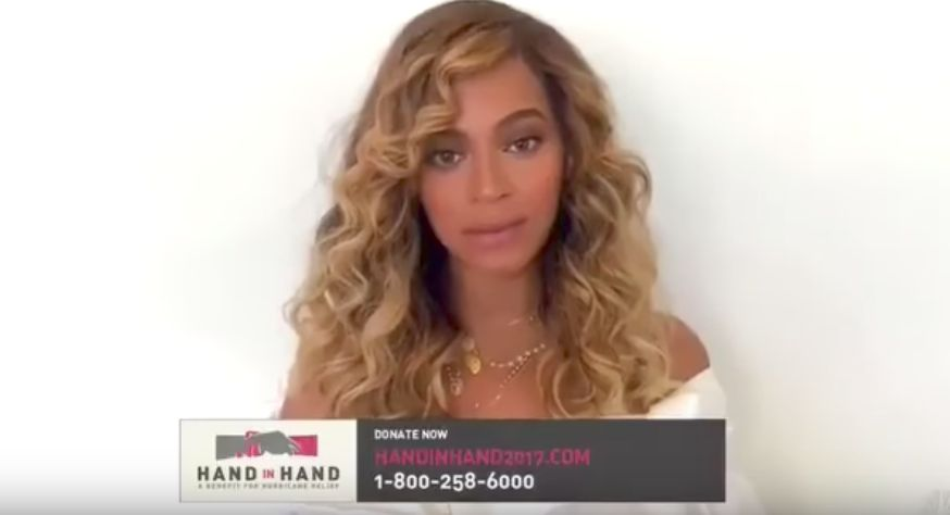 Beyoncé during her video