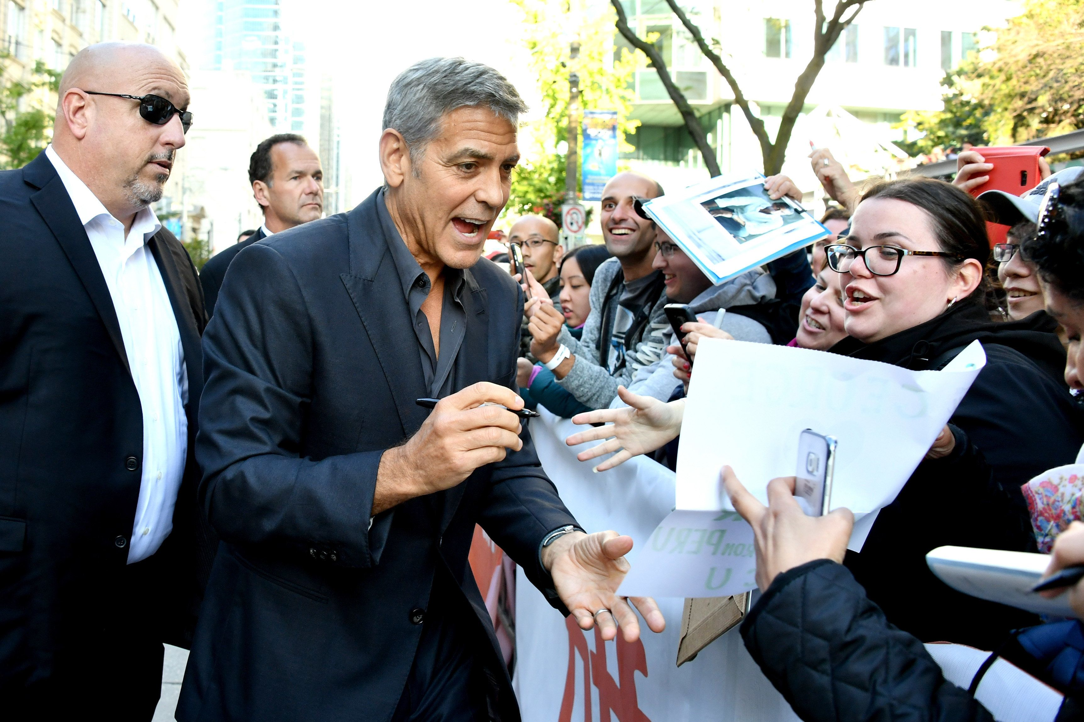 TORONTO, ON - SEPTEMBER 09:  George Clooney attends the 'Suburbicon' premiere during the 2017 Toronto International Film Festival at Princess of Wales Theatre on September 9, 2017 in Toronto, Canada.  (Photo by George Pimentel/WireImage)