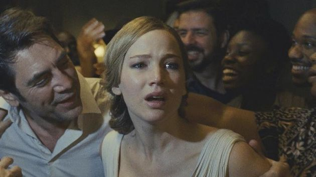 Javier Bardem and Jennifer Lawrence star in