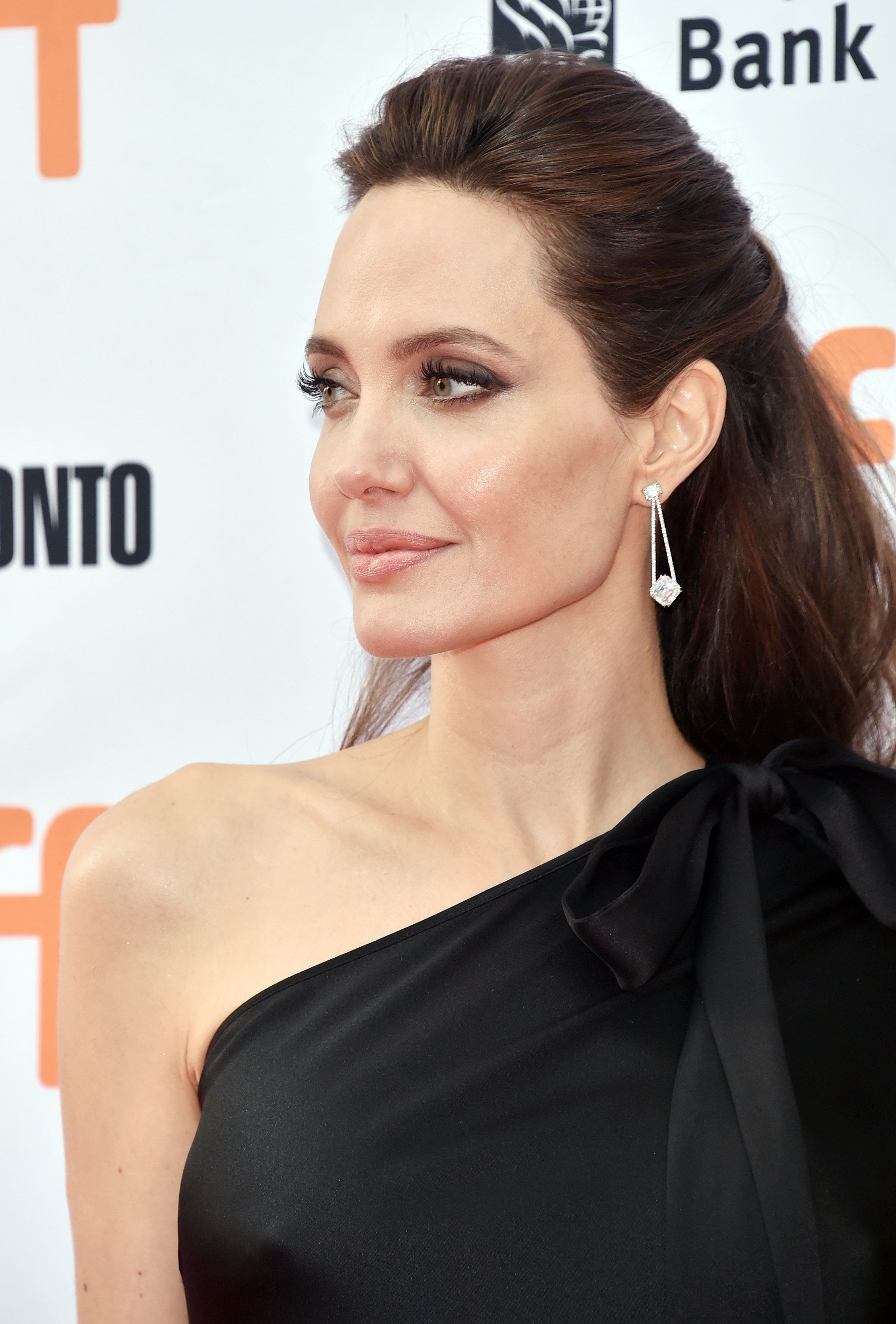 TORONTO, ON - SEPTEMBER 11:  Angelina Jolie attends the 'First They Killed My Father' premiere during the 2017 Toronto International Film Festival at Princess of Wales Theatre on September 11, 2017 in Toronto, Canada.  (Photo by Alberto E. Rodriguez/Getty Images)