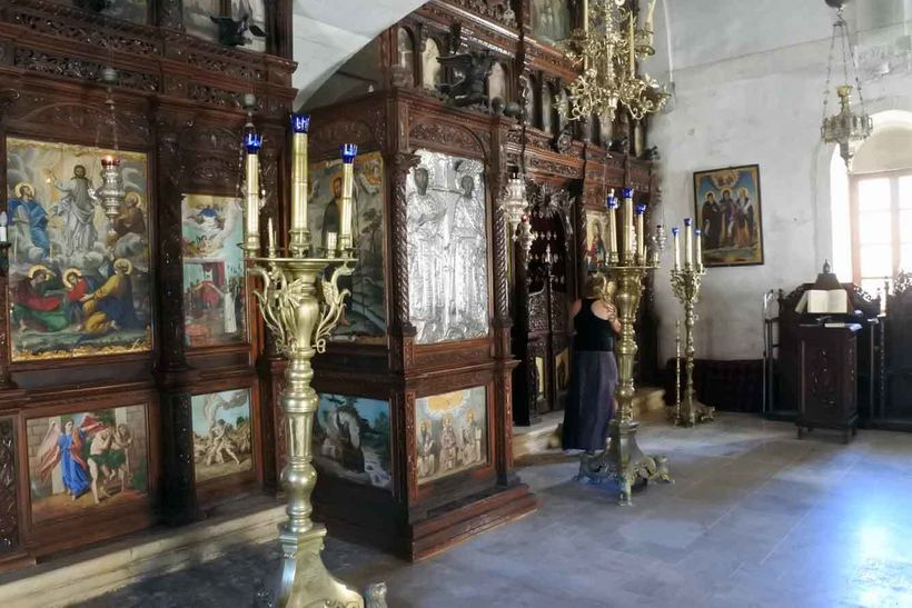Arkadi's cypress iconostase.