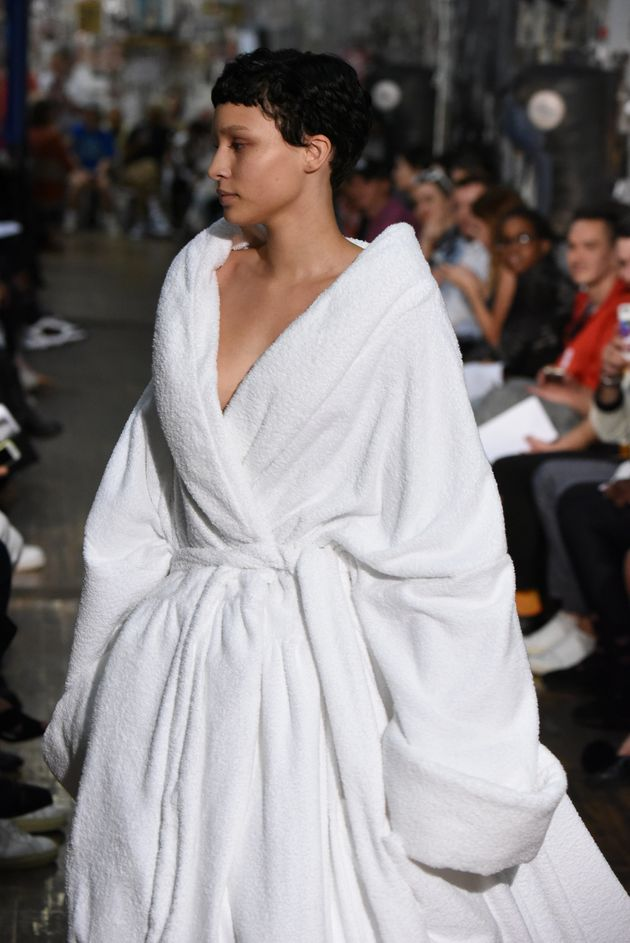 This robe could fit at least three people in