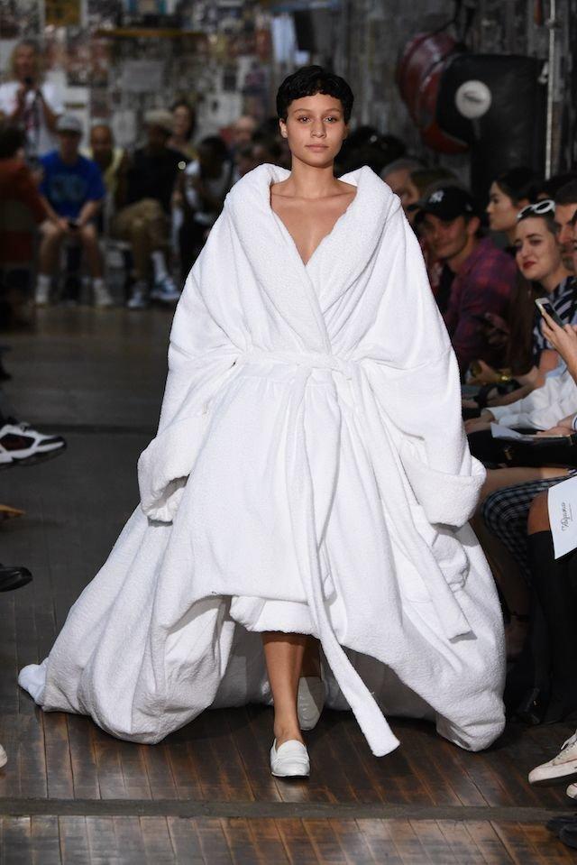 Massive Bath Robe On The Runway Takes The Pajama Trend To ...