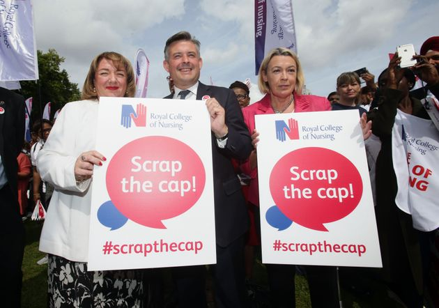 Shadow Health Secretary campaigning against the pay