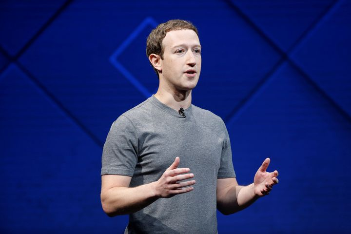 Facebook Founder and CEO Mark Zuckerberg speaks on stage during the annual Facebook F8 developers conference in San Jose, Cal
