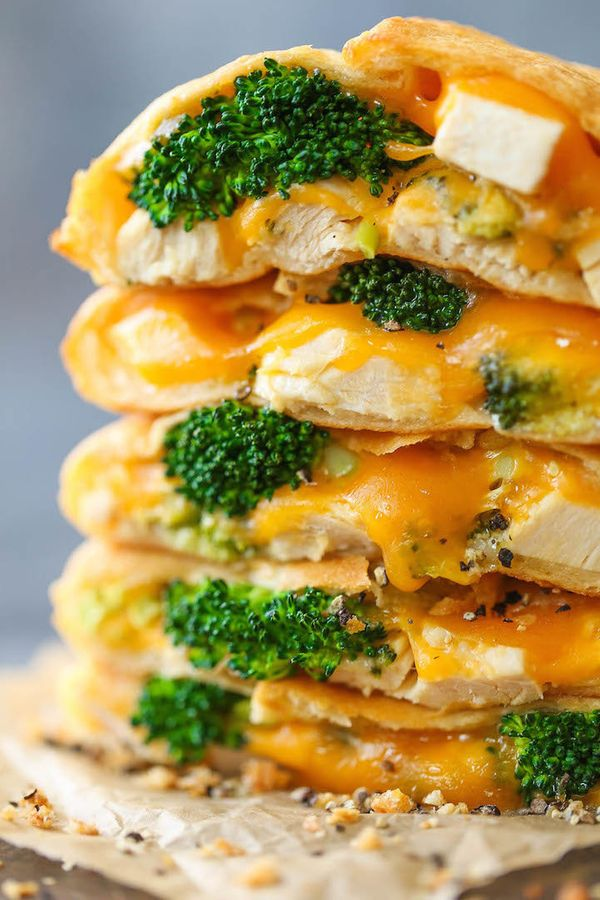 "<strong>Get the <a href=""http://damndelicious.net/2016/12/30/cheesy-chicken-broccoli-pockets/"" target=""_blank"">Cheesy Chicken"
