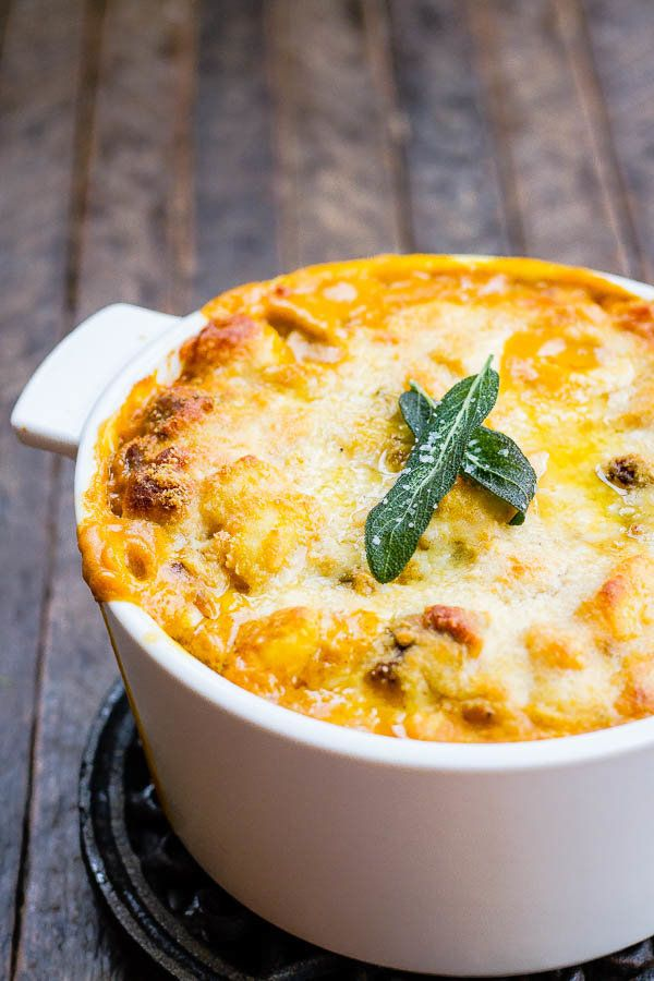 "<strong>Get the <a href=""http://www.thewickednoodle.com/creamy-baked-pumpkin-gnocchi/"" target=""_blank"">Creamy Baked Pumpkin G"