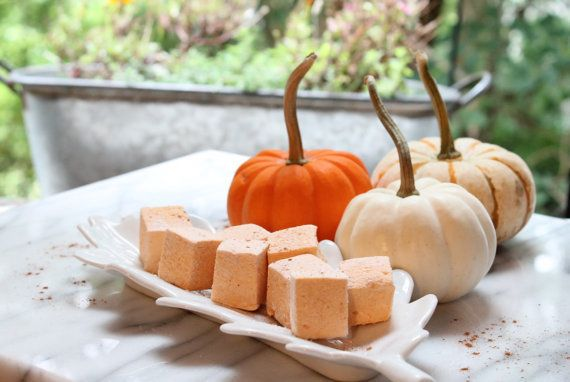 "Get a pack of 18 pieces <a href=""https://www.etsy.com/listing/468850018/pumpkin-chai-marshmallows-18-pieces"" target=""_blank"">"