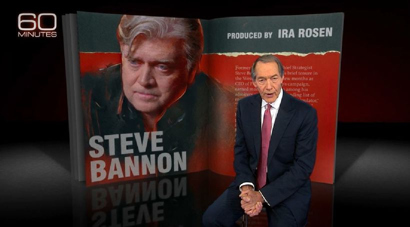 Steve Bannon featured on 60 Minutes, 9/10/17. Watch the interview at https://www.cbsnews.com/videos&