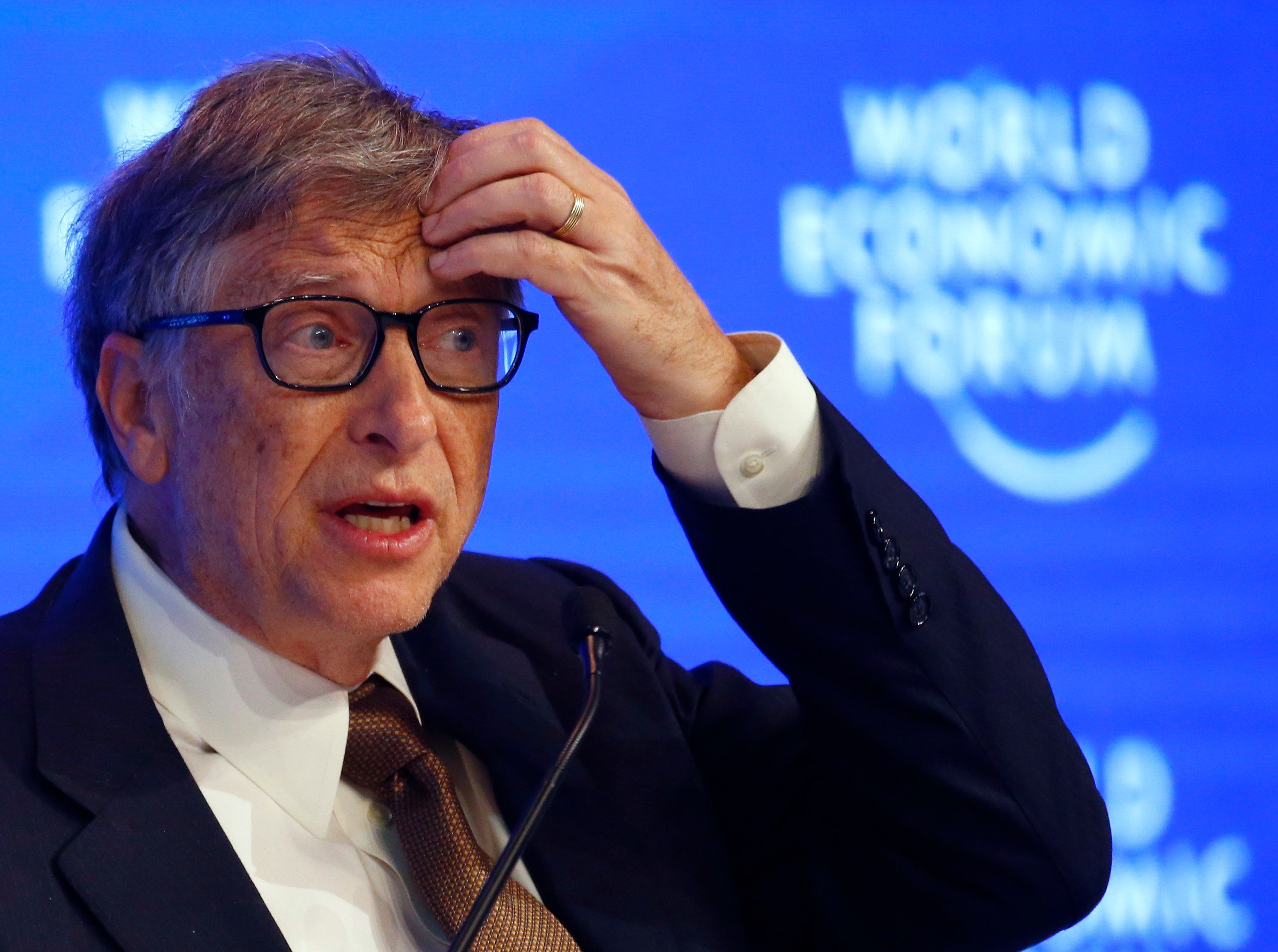 Billionaire philanthropist Bill Gates attends the World Economic Forum (WEF) annual meeting in Davos, Switzerland January 19, 2017.  REUTERS/Ruben Sprich