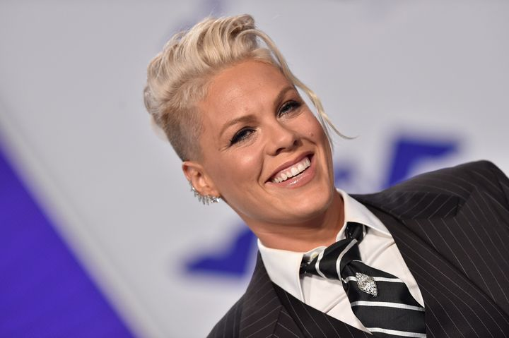 Pink's got a sense of humor about parenting.