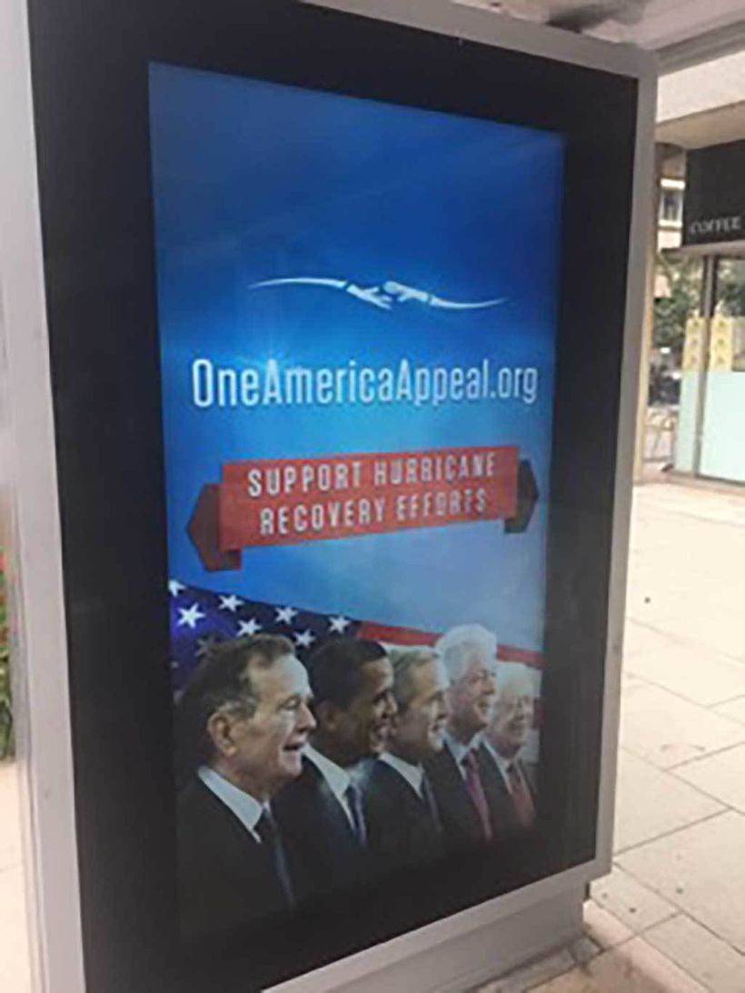 Clear Channel's digital bus shelter in Washington, DC