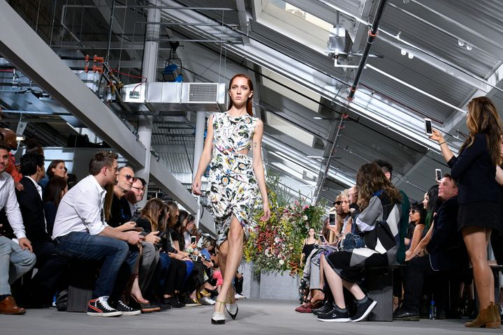 Quinlivan walks the runway at Jason Wu's Sept. 8 New York Fashion Week show.