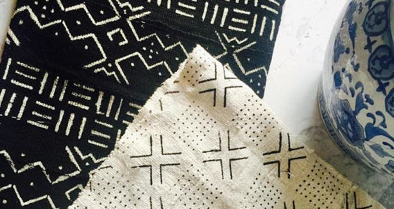 "<a href=""Mud cloth is a centuries-old, hand-dyed textile art that originated in West Africa with the women of Mali&rsquo;s Bamana culture"" target=""_blank"">Mud cloth</a> is a centuries-old, hand-dyed textile art that originated in West Africa with the women of Mali&rsquo;s Bamana culture."