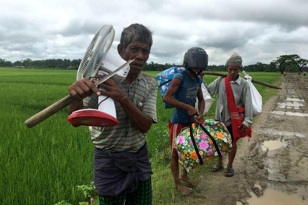 People displaced by violence in Rakhine state, Myanmar. Sept.
