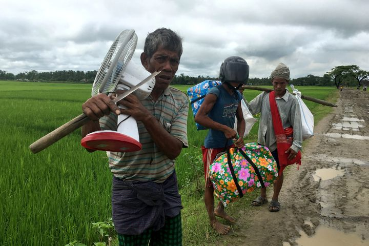 People displaced by violence in Rakhine state, Myanmar. Sept. 12.